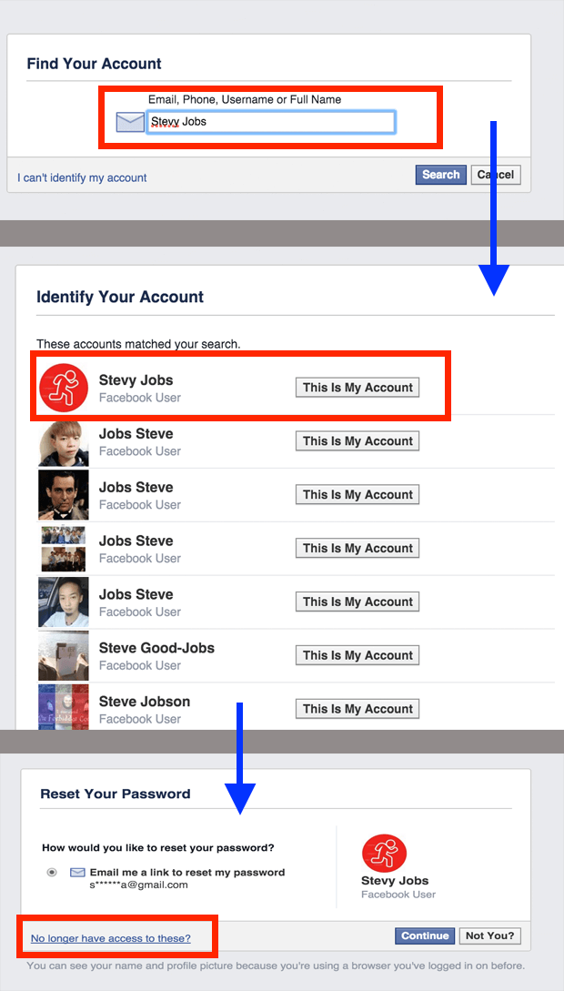 how to get back your facebook password